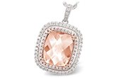 H242-76770: NECK 4.20 MORGANITE 4.66 TGW