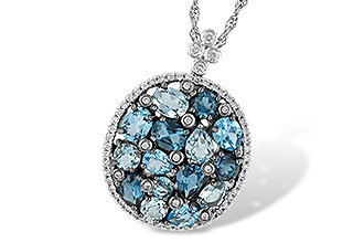 L241-85897: NECK 3.12 BLUE TOPAZ 3.41 TGW