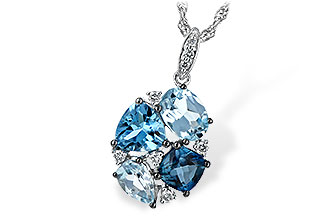 M243-64915: NECK 2.60 BLUE TOPAZ 2.70 TGW